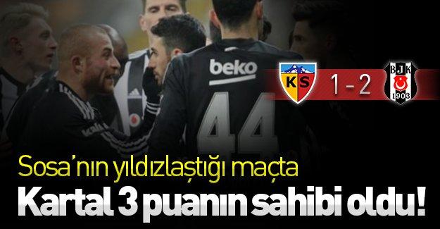 Sosa'nın yıldızlaştığı maçta Kartal 3 puanın sahibi oldu! (Kayserispor 1-2 Beşiktaş) Maç özeti!