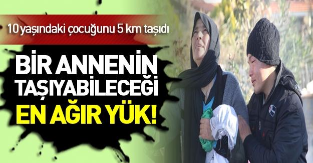 Suriyeli anne ölü çocuğunu 5 km kucağında taşıdı