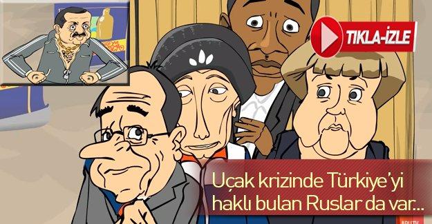 Uçak krizinde Türkiye'yi haklı bulan Ruslar da var..