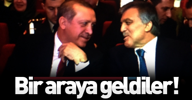 Uzun bir aradan sonra Erdoğan ve Gül bir araya geldi!