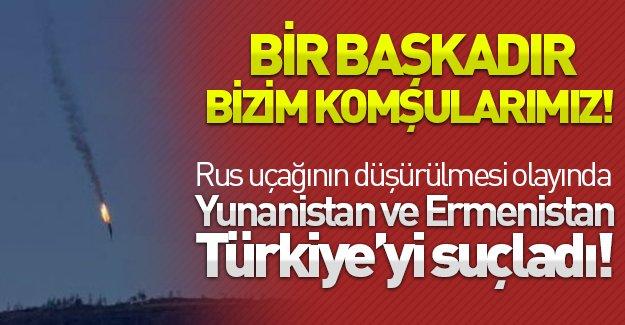 Yunanistan ve Ermenistan'ın uçak krizinde Türkiye'yi haksız buldu!