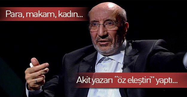 """Abdurrahman Dilipak """"öz eleştiri""""ye devam ediyor!"""