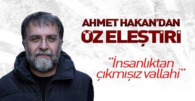 Ahmet Hakan Hürriyet'i eleştirdi