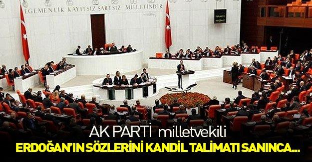 AK Partili milletvekili, Erdoğan'ın açıklamasını 'Kandil talimatı' sanınca...
