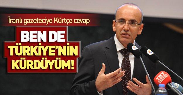 Bakan Şimşek'ten İranlı gazeteciye Kürtçe cevap