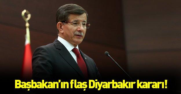 Başbakan'dan flaş Diyarbakır kararı!