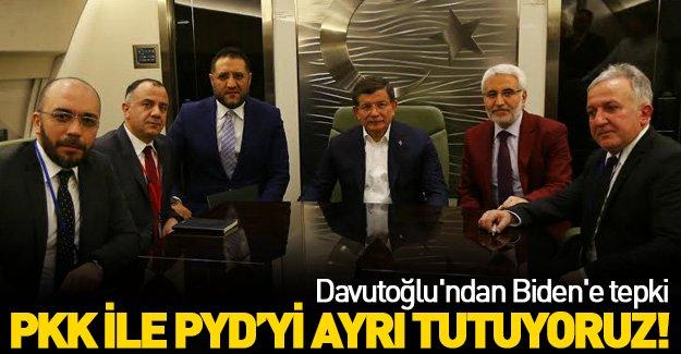 Başbakan Davutoğlu'ndan Biden'e tepki