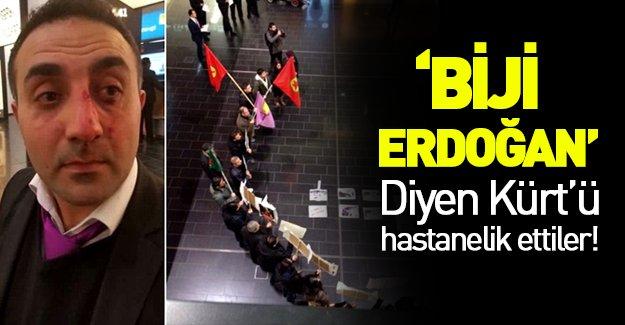 'Biji Erdoğan' diye bağıran Kürt'e PKK'lılar saldırdı