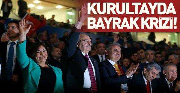 CHP kurultayında bayrak krizi yaşandı! İşte Kılıçdaroğlu'nun açıklamaları!