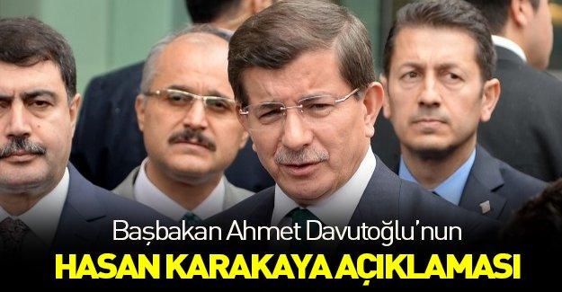 Davutoğlu'ndan Hasan Karakaya için ilk açıklama