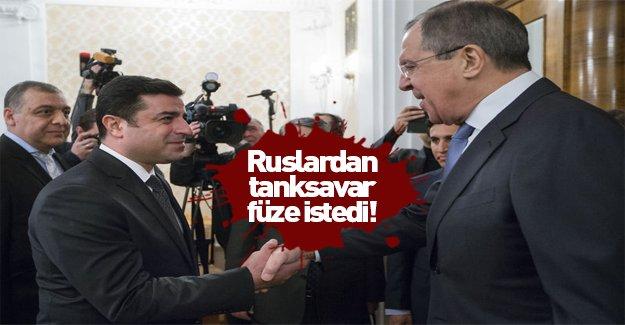 Demirtaş Rusya'da tanksavar füze istedi!