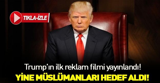 Donald Trump'ın tartışma yaratan seçim reklamı yayınlandı!
