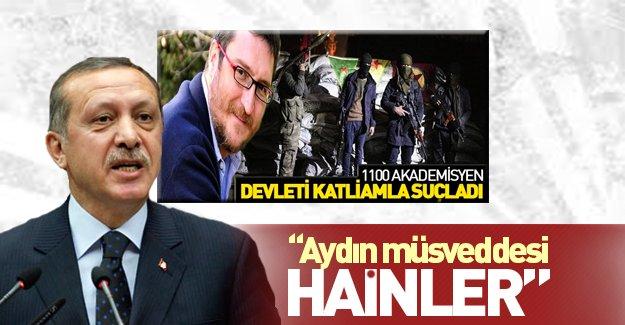 Erdoğan'dan terör destekçisi aydınlara sert cevap!