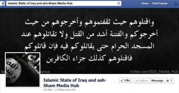 Facebook: IŞİD hesaplarını beğenin!