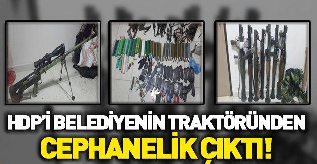 HDP'li belediyenin aracında PKK mühimmatı