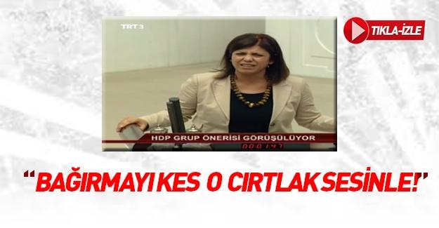 HDP'li kadın vekil meclisi birbirine kattı!