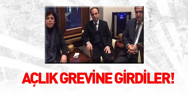 HDP'li vekiller açlık grevi başlattı!