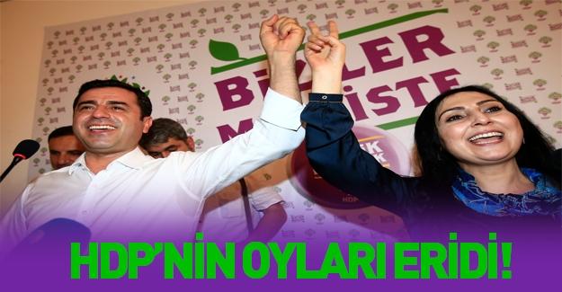 HDP'nin oyları gün geçtikçe eriyor