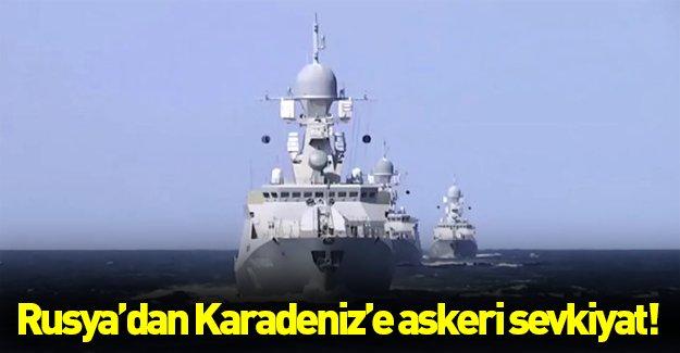 Karadeniz'de askeri hareketlilik! Rusya'dan Karadeniz'e askeri sevkiyatı...