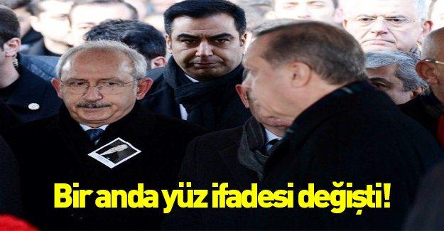 Kılıçdaroğlu'nun yüz ifadesi Erdoğan'ı görünce değişti...