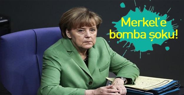Merkel'in bürosunda bomba alarmı