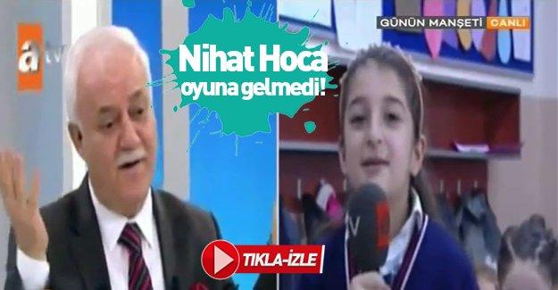 Nihat Hoca PKK'nın provokasyonuna gelmedi