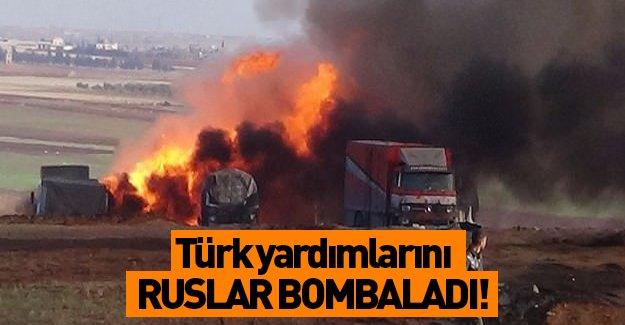 Rusya, insanı yardım taşıyan tırları bombaladı!