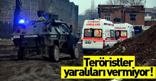 Teröristler yaralıları vermiyor!