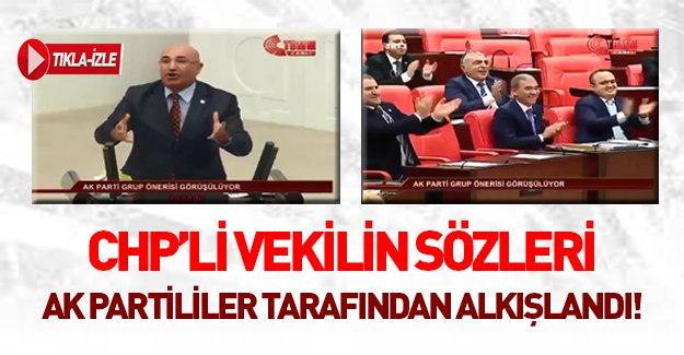 CHP'li vekil Ak Parti'yi eleştirmek isteyince...