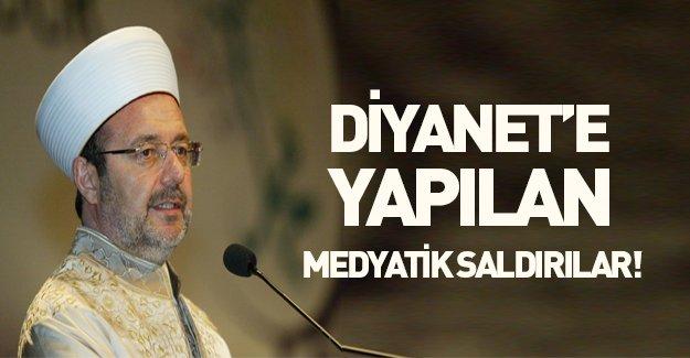 Diyanet'e yapılan medyatik saldırılar! Mehmet Görmez açıkladı...
