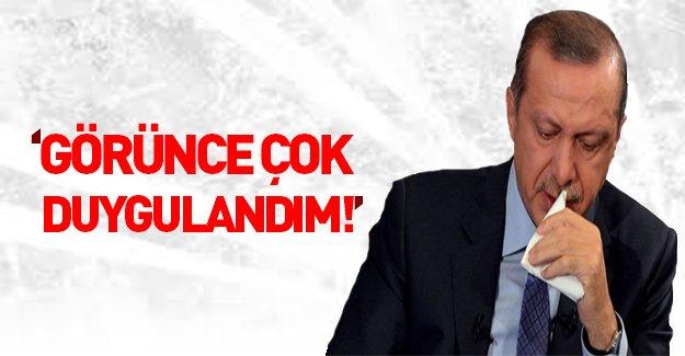 """Erdoğan'ın """"çok duygulandım"""" dediği fotoğraf"""