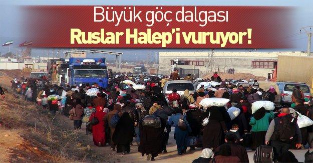 Halep'ten Türkiye'ye büyük göç başladı!