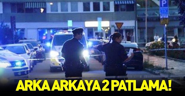 İsveç'te arka arkaya iki patlama!