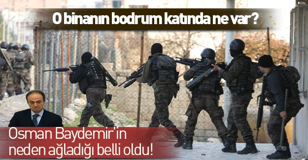 Osman Baydemir'in neden ağladığı belli oldu! Cizre'deki o binada ne var?