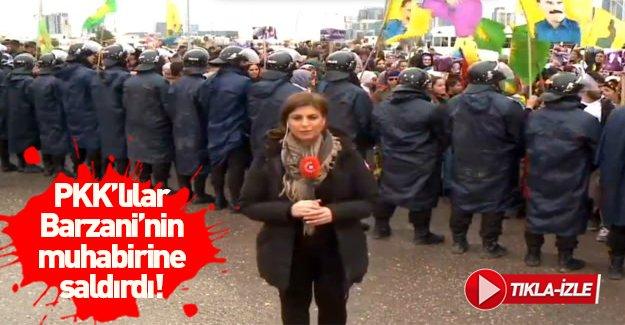 PKK yanlıları Barzani'nin muhabirine saldırdı!