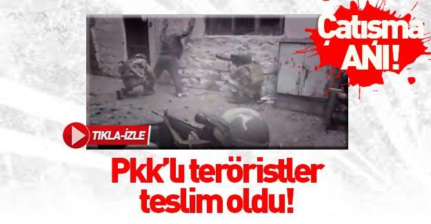 Sur'da köşeye sıkışan teröristler böyle teslim oldu