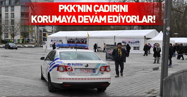 Brüksel polisi PKK'yı korumaya devam ediyor