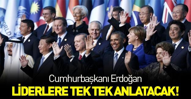 Erdoğan Amerika'da liderlere tek tek anlatacak...
