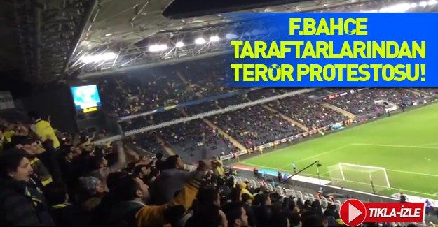 Fenerbahçe tribünlerinde Ankara saldırısı böyle protesto edildi