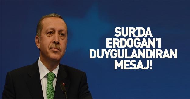 Sur'da polisten Erdoğan'a Kürtçe mesaj