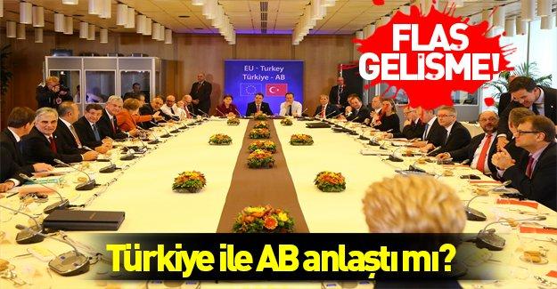 Türkiye-AB zirvesinin taslağı şekillenmeye başladı