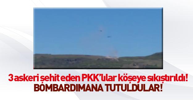 3 askeri şehit eden PKK'lılar sıkıştırıldı