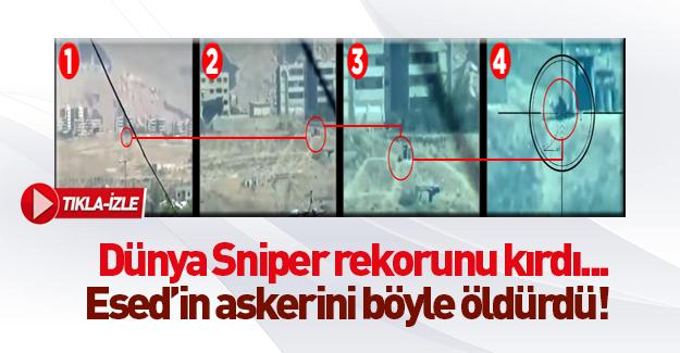 3 km öteden Dünya sniper rekorunu kıran atış