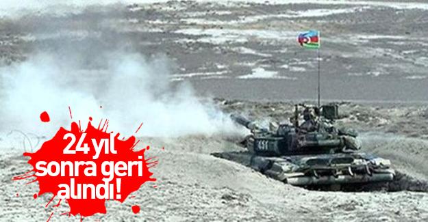 Azerbaycan 24 sene sonra Ermenistan'dan geri aldı!