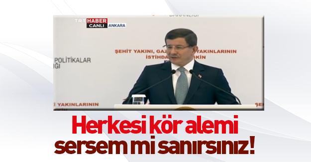 Başbakan Davutoğlu'ndan HDP'ye çok sert tepki