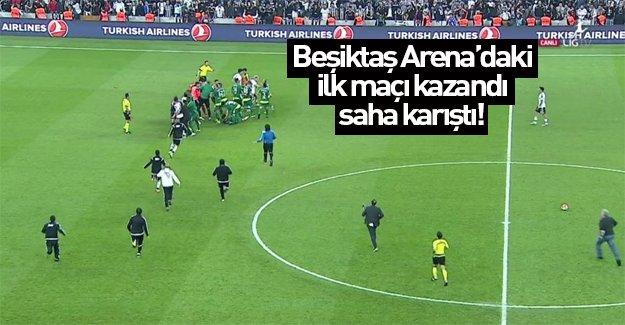 Beşiktaş Arena'da ilk maç olaylı bitti!