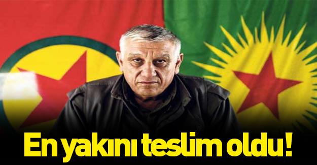 Cemil Bayık'ın en güvendiği terörist teslim oldu!