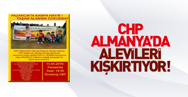 CHP Almanya'da Alevileri örgütlüyor!