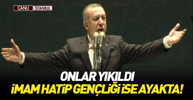 Erdoğan İmam Hatip Gençlik Buluşması'nda konuştu