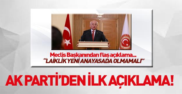 Meclis Başkanı'nın laiklik çıkışına AK Parti'den açıklama!